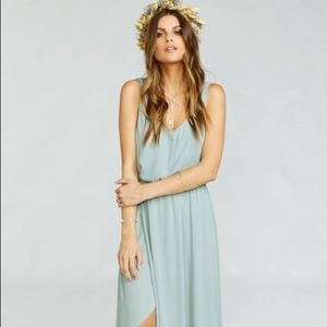 SHOW ME YOUR MUMU | KENDALL MAXI DRESS SILVER SAGE
